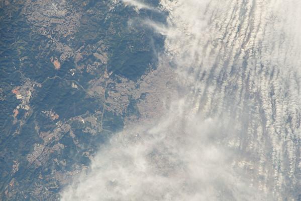 Reid Wiseman: Cloudy skies over Sao Paolo. #worldcup