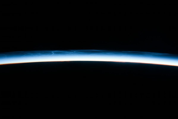 An #amazing sight from up here… noctilucent clouds just before sunrise. Tough to catch on camera.