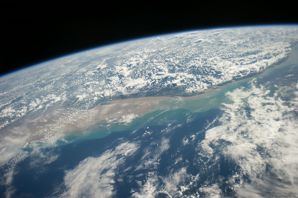 Reid Wiseman @astro_reid  ·  Aug 12 The #Amazon spills sediment into the clear blue Atlantic waters near Brazil and French Guiana