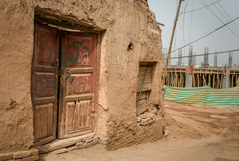 Old Town, Kashgar, China: a shrinking Old Town is crowded by new construction.