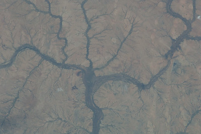 Caption by Space Station Academy student: This shows a big river with it's other streams connected to the other main river flow. This goes to show how our water comes into a certain place with the help over the main river flow. The river also seems to resemble a tree.