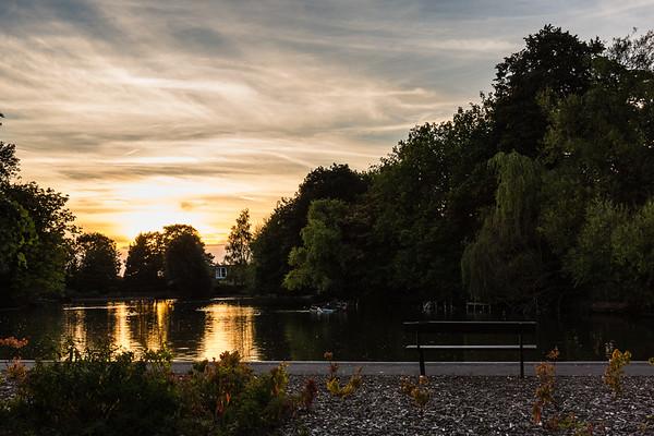 Alexandra Palace at sunset