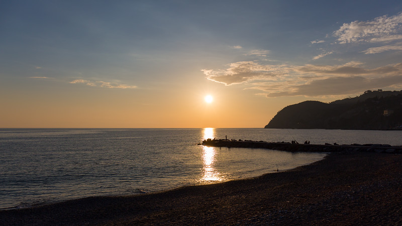 Sunset at Levanto... almost