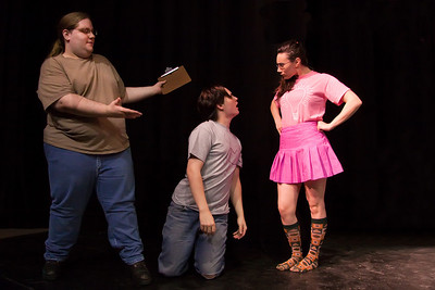 Drew Dunlap, Joshuah Patriarco, Gina Leonaggeo in Everyman