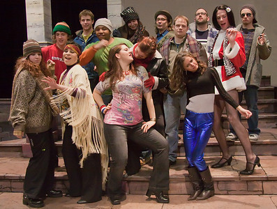 The cast of the Up In One Production of RENT