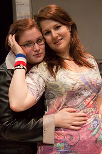Emily Woolever (Joanne) and Cat Barney (Maureen) of the Up In One Production, RENT