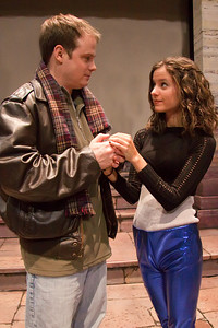 Courtney Pincus (Mimi)  and Jim Nurre (Roger) of the Up In One Production, RENT