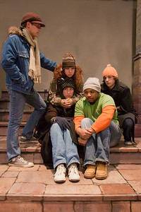 Several cast members of the Up In One Production, RENT