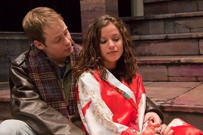 Jim Nurre (Roger)  and Courtney Pincus (Mimi) of the Up In One Production, RENT