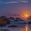 Moonset on Bandon Beach (a2-2143)