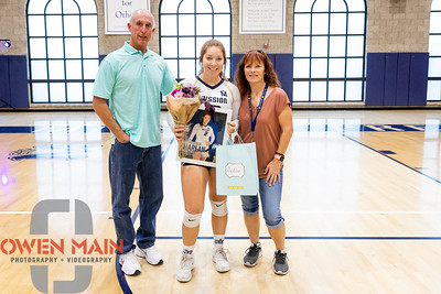 Mission Prep women's volleyball hosted Arroyo Grande. Photo by Owen Main 10/17/19
