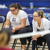Mission Prep hosted Nipomo in the first volleyball match of the 2018 season. 8/14/186:02:40 PM <br /> <br /> Photo by Owen Main