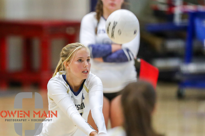 Mission Prep hosted Nipomo in the first volleyball match of the 2018 season. 8/14/186:03:23 PM <br /> <br /> Photo by Owen Main