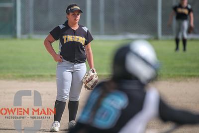 5/1/183:35:08 PM --- San Luis Obispo High School JV Softball played a game against Pioneer Valley High School.  Photo by Owen Main / Fansmanship.com