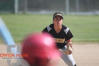 5/1/183:36:15 PM --- San Luis Obispo High School JV Softball played a game against Pioneer Valley High School.  Photo by Owen Main / Fansmanship.com
