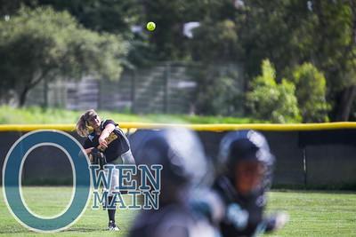 5/1/183:34:02 PM --- San Luis Obispo High School JV Softball played a game against Pioneer Valley High School.  Photo by Owen Main / Fansmanship.com