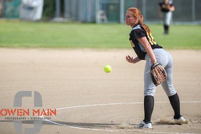 5/1/183:32:18 PM --- San Luis Obispo High School JV Softball played a game against Pioneer Valley High School.  Photo by Owen Main / Fansmanship.com