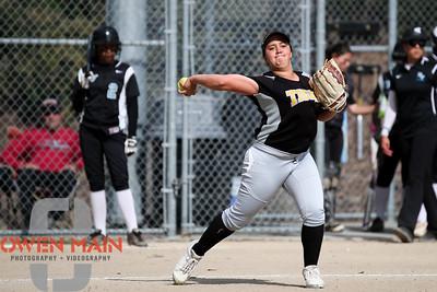 5/1/183:30:51 PM --- San Luis Obispo High School JV Softball played a game against Pioneer Valley High School.  Photo by Owen Main / Fansmanship.com