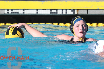 San Luis Obispo High School took on Atascadero High School in Water Polo at Sinsheimer Pool in San Luis Obispo, CA. Photo by Owen Main. 10/16/18