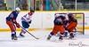 10 Kristian Lupták rushes the Lake Erie Eagels goal