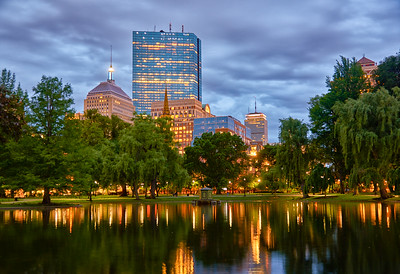 Evening buildings Boston