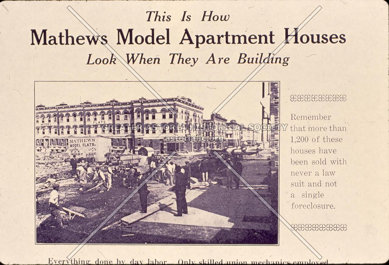 Mathews Model Flats ad