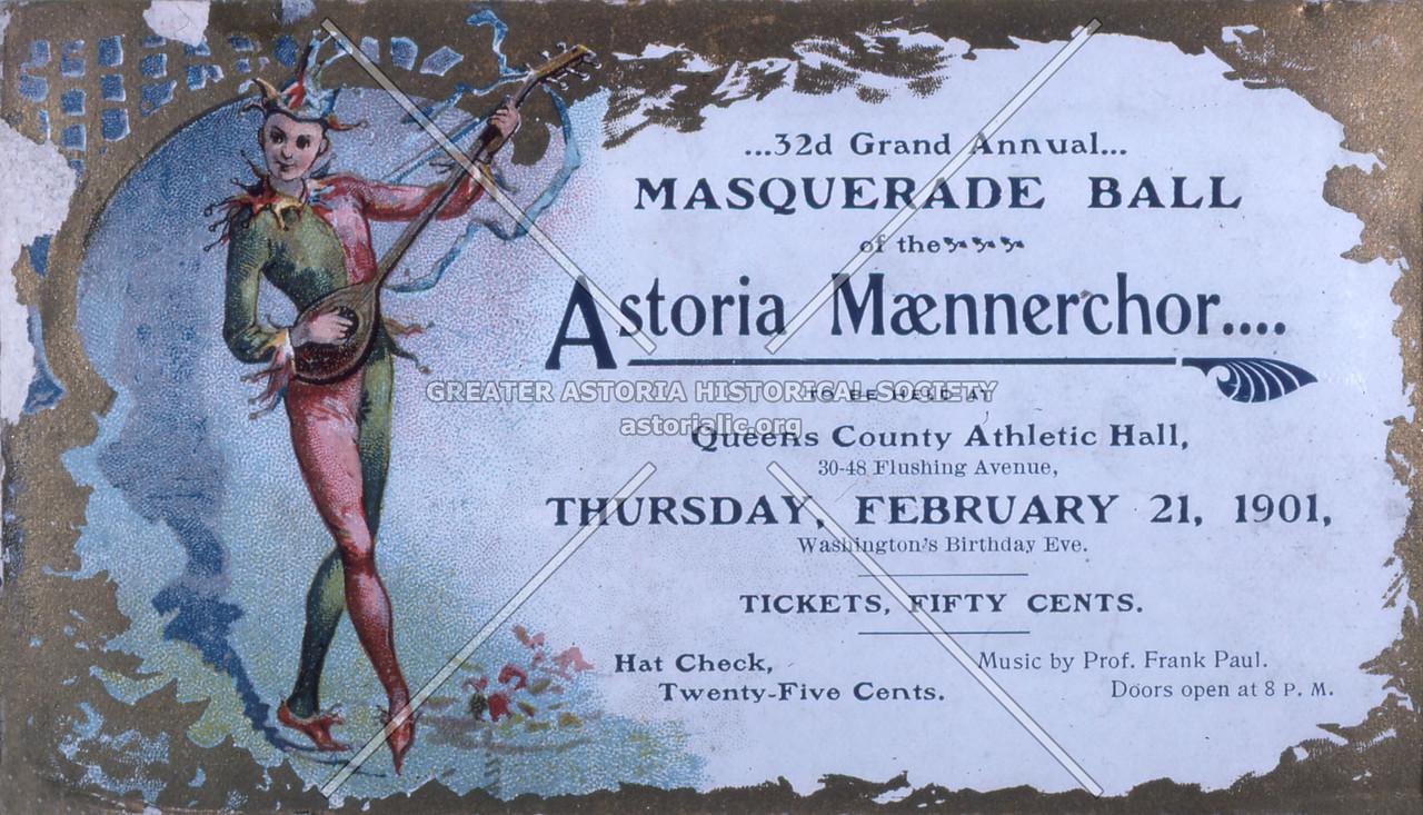 Astoria Maennechor Mask Ball (1901)