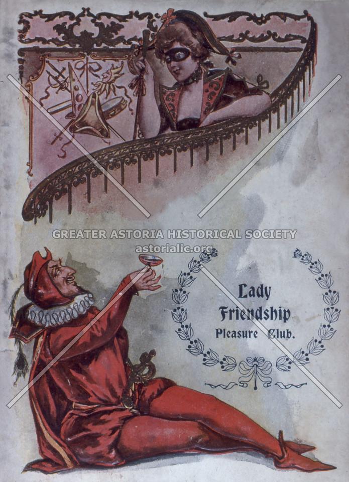 Lady Friendship Pleasure Club Mask and Civic Ball 1907