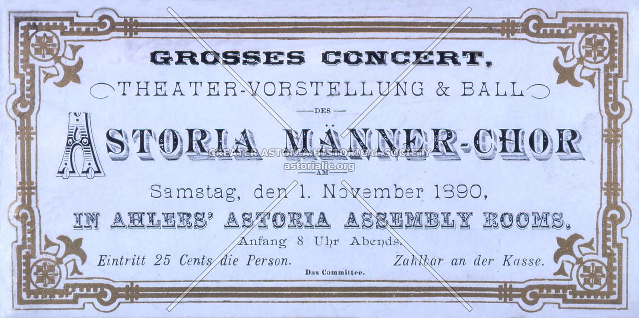 Astoria Manner Choir 1890
