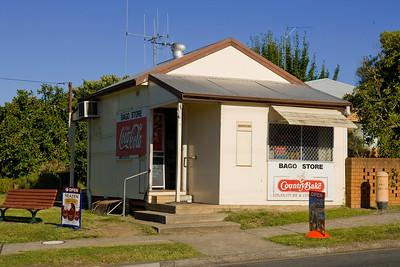 GWP. Fibro shop at Waughope. 20080305. Not K-Mart. Bago store. Fibro.