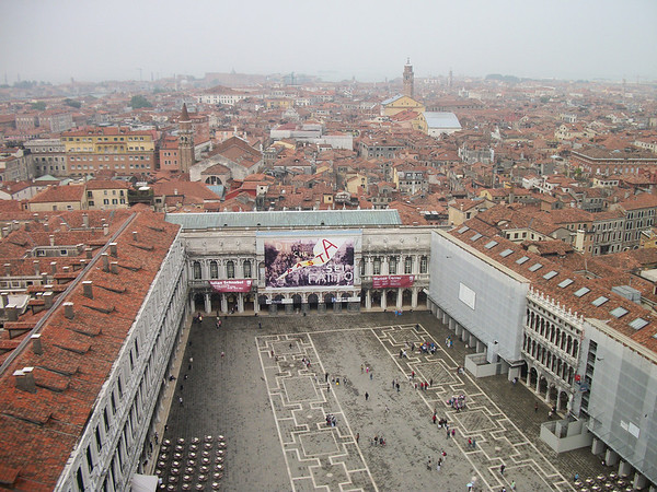 From the bell tower of  san marco campanile - the central bell tower