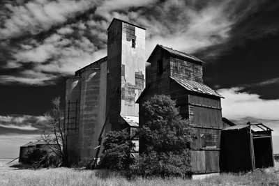 Old grain elevator, Colorado