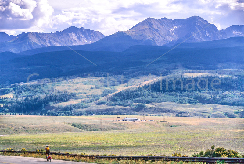 Cyclist at Ute Pass on Great Divide Trail near Silverthorne, Colorado - 7 - 72 ppi