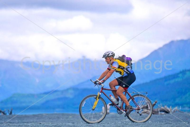 Mountain biker(s) in Chugach Mountains on Alaska's Kenai peninsula  - B ak chugach 74 - 72 dpi 2