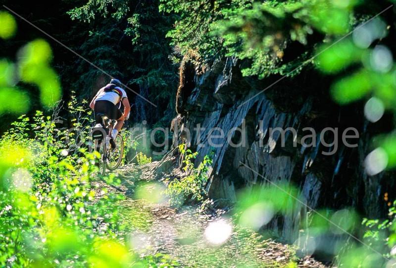 Mountain biker(s) in Chugach Mountains on Alaska's Kenai peninsula  - B ak chugach 35 - 72 dpi 2