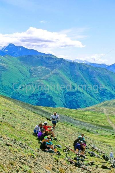 Mountain biker(s) in Chugach Mountains on Alaska's Kenai peninsula  - B ak chugach 99 - 72 dpi 2