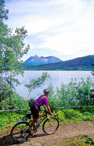 Mountain biker(s) in Chugach Mountains on Alaska's Kenai peninsula  - B ak chugach 60 - 72 dpi 2