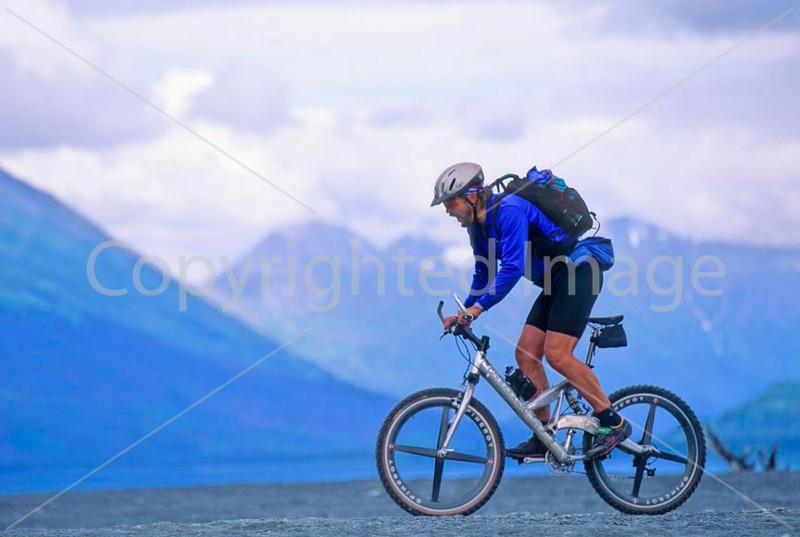 Mountain biker(s) in Chugach Mountains on Alaska's Kenai peninsula  - B ak chugach 23 - 72 dpi 2