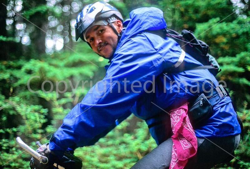 Mountain biker(s) in Chugach Mountains on Alaska's Kenai peninsula  - B ak chugach 57 - 72 dpi - soft focus  2