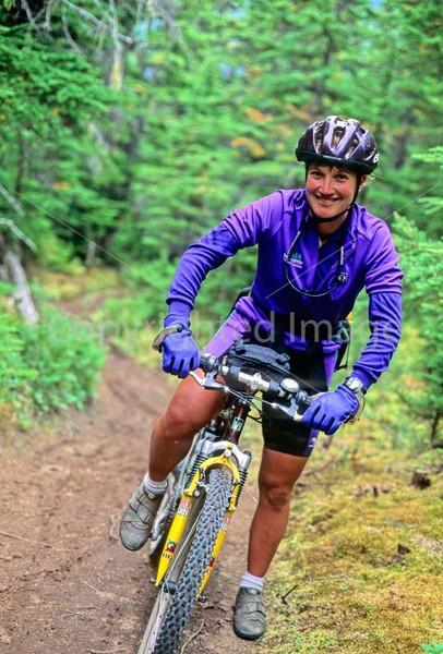 Mountain biker(s) in Chugach Mountains on Alaska's Kenai peninsula  - B ak chugach 4 - 72 dpi 2
