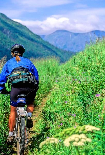 Mountain biker(s) in Chugach Mountains on Alaska's Kenai peninsula  - B ak chugach 7 - 72 dpi 2