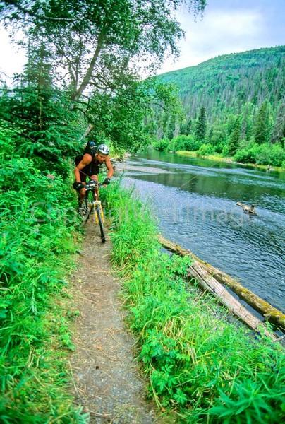 Mountain biker(s) in Chugach Mountains on Alaska's Kenai peninsula  - B ak chugach 64 - 72 dpi 2