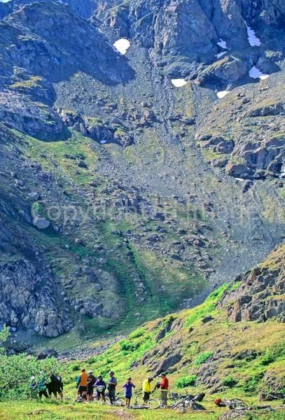 Mountain biker(s) in Chugach Mountains on Alaska's Kenai peninsula  - B ak chugach 28 - 72 dpi 2