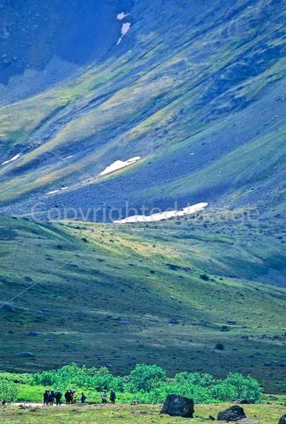 Mountain biker(s) in Chugach Mountains on Alaska's Kenai peninsula  - B ak chugach 38 - 72 dpi 2
