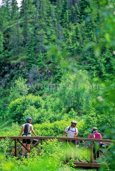 Mountain biker(s) in Chugach Mountains on Alaska's Kenai peninsula  - B ak chugach 15 - 72 dpi 2