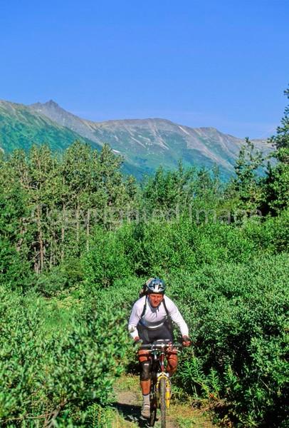 Mountain biker(s) in Chugach Mountains on Alaska's Kenai peninsula  - B ak chugach 43 - 72 dpi 2