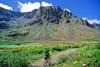 Mountain biker(s) in Chugach Mountains on Alaska's Kenai peninsula  - B ak chugach 103 - 72 dpi 2