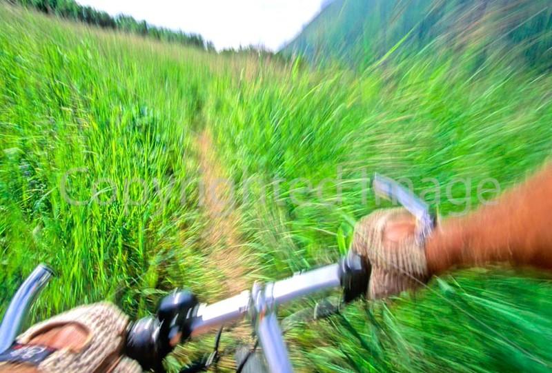 Mountain biker(s) in Chugach Mountains on Alaska's Kenai peninsula  - B ak chugach 88 - 72 dpi 2