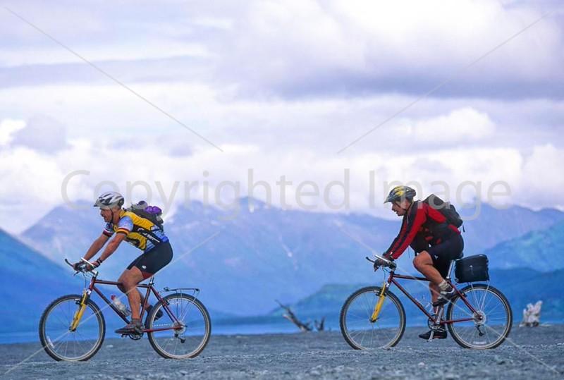 Mountain biker(s) in Chugach Mountains on Alaska's Kenai peninsula  - B ak chugach 16 - 72 dpi 2
