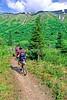 Mountain biker(s) in Chugach Mountains on Alaska's Kenai peninsula  - B ak chugach 68 - 72 dpi 2